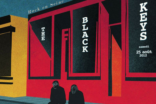 Affiche The Black Keys - Marjane Satrapi