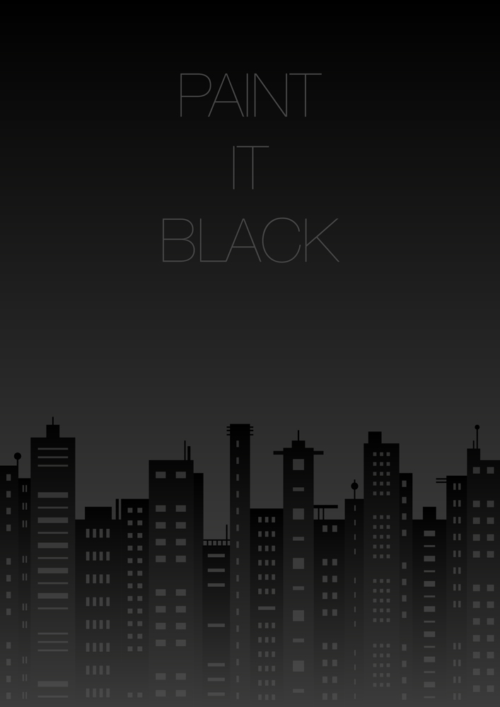 #5 Affiche par Juliette Delvienne – Paint it Black