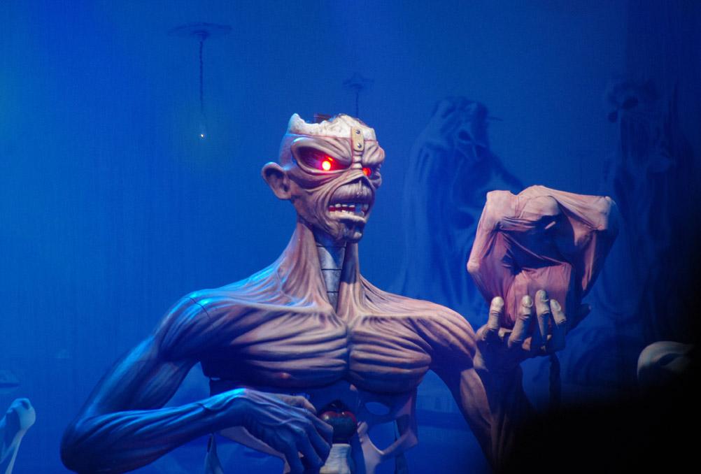 Eddie, mascotte de Iron Maiden / photo : Ugo Schimizzi